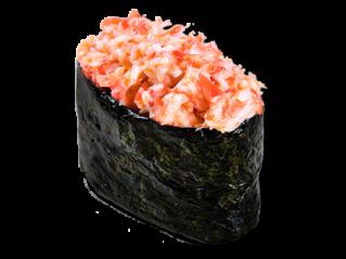 Острые суши с крабом